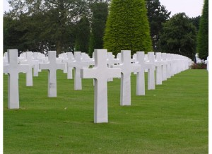 "the ""Known But to God"" grave markers at the American Cemetary in Normandy."